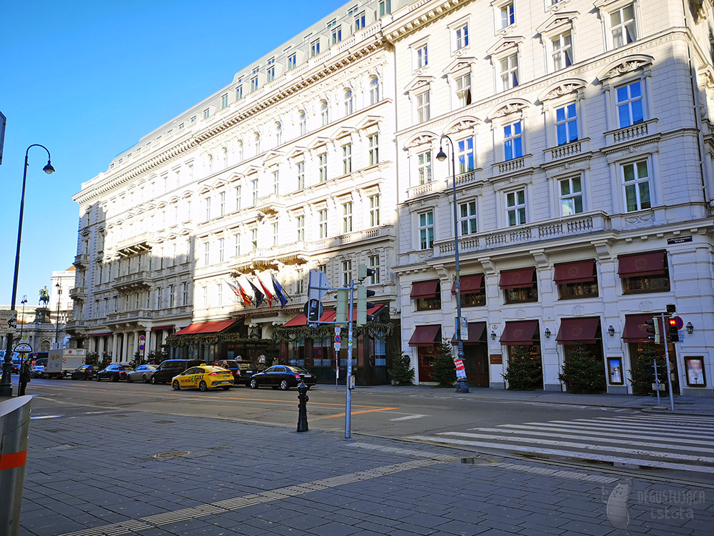 Sacher hotel building. View from the Opera House.